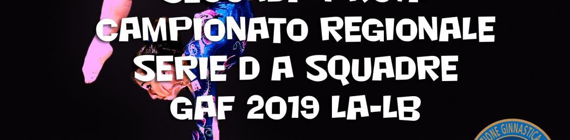 Seconda prova Campionato Regionale Serie D a squadre GAF 2019 LA-LB