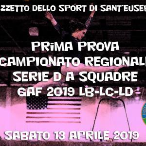 Prima prova Campionato Regionale Serie D a squadre GAF 2019 LB-LC-LD